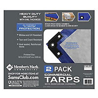 Member's Mark Commercial Tarps 12 x 16 w/ Reinforced Corners