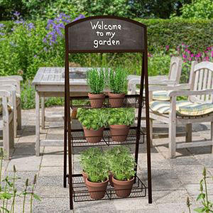 3 Tier Folding Chalkboard, Black