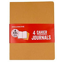 Moleskine 4 Pack XXL Ruled Cahier Journals, Tan