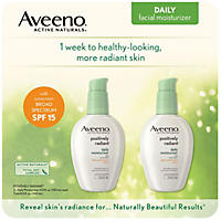 (Free Shipping) Aveeno Positively Radiant Daily Moisture with SPF 15 4 oz., 2 pk.