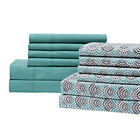 Queen - Brooklyn Loom 12 Pc Sheet Set, Teal