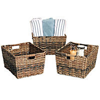 3pk Storage Baskets Seville Classics