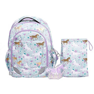 Crckt Youth Backpack, Unicorn/Teal