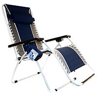 Member's Mark Oversized Zero-Gravity Lounger, Navy