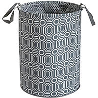 Baum Essex Jumbo Hamper, Grey Oval
