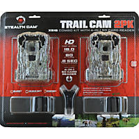 Steal Cam 2 Pack Game Camera with Card Reader , Gray