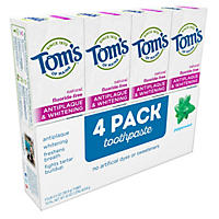 Tom's Antiplaque & Whitening Fluoride-Free Peppermint Toothpaste (5.5 oz., 4 pk.)