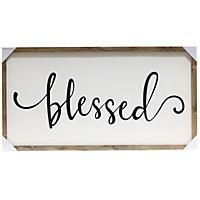 Farmhouse Wood  Sign Blessed