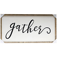 Farmhouse Wood Sign, Gather