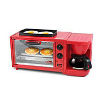 Nostalgia Retro Series 3-in-1 Breakfast Station, Red