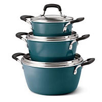 6PC Stacking Cookset,Blue