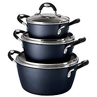 6PC Speckled Blue Cook Set