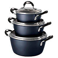 6PC Speckled Black Cook Set