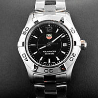 Open Box Tag Heuer Aquaracer Quartz, Black Dial