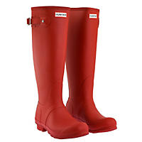 Tall Matte Boots Military Red-Size 8