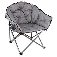 Grey Cozy Club Chair