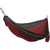 Grand Trunk Double Hammock, Crimson/Charcoal