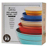 10Pc Mixing Bowl Set  Wave 2 Multicolor