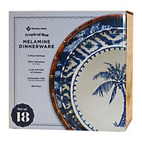 18Pc Melamine Dinner Tropical Ikat