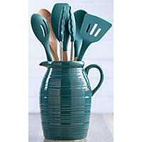 7-Piece Crockand Kitchen Tool Set, Teal