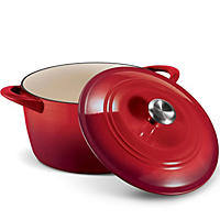 Tramontina 7 Qt. Dutch Oven Enameled Cast Iron -  Red