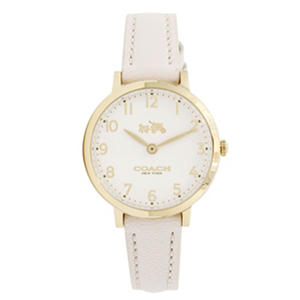 Women's Ultra Slim Leather Watch by COACH White Cream