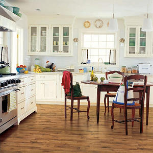 Traditional Living Premium Laminate Flooring, Antique Hickory (10mm + 2MM  Underlayment Thick   1 Pk.)