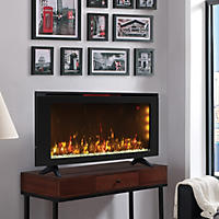 "Classicflame 42"" Wall-Mounted Infrared Quartz Electric Fireplace Heater with Display Stand"