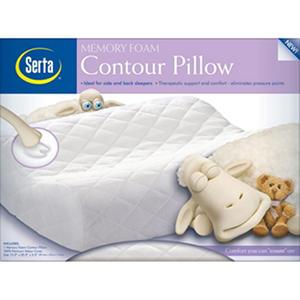 Serta Standard Sized Memory Foam Contour Pillow Samsclub