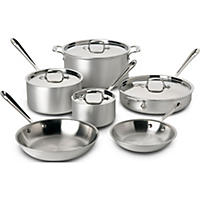 All Clad D5 Brushed 10 Piece Set Stainless Steel