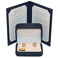(Free Shipping) Akoya Pearl Stud Earrings - 18K