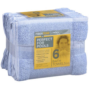 "Fibertone™ 25 X 50"" Bath Towels - 6 Ct."