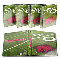 "(Free Shipping)NCAA Team 1"" College Binders, 4 pack Arkansas Razorbacks"