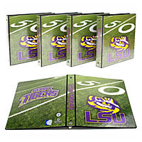 "(Free Shipping)NCAA Team 1"" College Binders, 4 pack LSU Tigers"