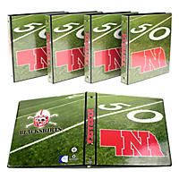"(Free Shipping)NCAA Team 1"" College Binders, 4 pack Nebraska Cornhuskers"