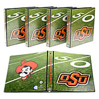 "(Free Shipping)NCAA Team 1"" College Binders, 4 pack Oklahoma State Cowboys"