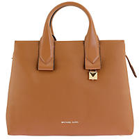 Rollins Large Pebbled Leather Satchel by Michael Kors Acorn