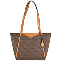 Whitney Small Logo Tote by Michael Kors Brown