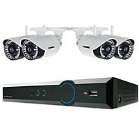 Lorex 4-Channel 720p HD Wireless Security System with 1TB HDD, 4x 720p Weatherproof Cameras and 120' Night Vision