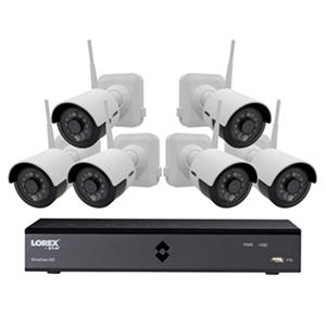 (Free Shipping) Lorex 6-Channel Wire-Free Security System with 6x 1080p High Definition Rechargeable Cameras with Bonus Extra Rechargeable Battery Pack