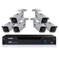 Lorex 8 Channel 4K IP Security System with 6 4K Ultra HD Cameras and 2TB NVR