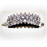 .96TW Diamond Triple Row Rounds Ring in 14K White Gold