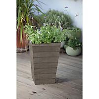 Keter Resin Wood Slat Planter