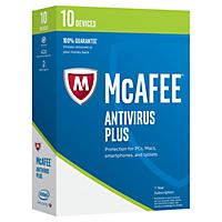 McAfee Antivirus 2017 10 Device Security Software