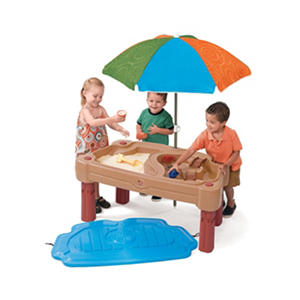 adjustable sand water table with umbrella auctions. Black Bedroom Furniture Sets. Home Design Ideas