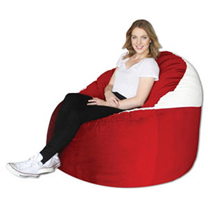 Amazing Big Tree Furniture Koala Foam Lounger, Bright Red/White Images