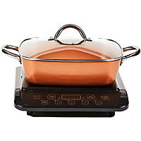 "Copper Chef Induction Cooktop with 11"" Casserole Pan"