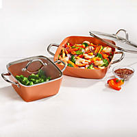 Copper Chef 4-Piece Deep Casserole Set