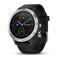 Garmin vivoactive 3 Black GPS Smartwatch with Additional White Band