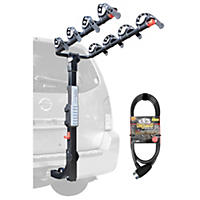 Allen Sports Premier Hitch Mounted 4-Bike Carrier with 6' OnGuard Locking Cable